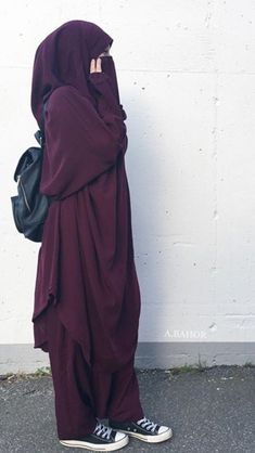 √ Niqab Recommended For You Niqab Fashion, Fashion Mode, Modest Fashion, Casual Hijab Outfit, Muslim Women Fashion, Islamic Fashion, Muslim Dress, Hijab Dress, Modest Dresses
