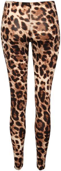 Womens Animal Leopard Print Full Length Ladies Leggings Pants Size S M L XL 8 12