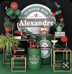 Beer Birthday Party, Birthday Diy, Candy Bar Party, Rainbow Parties, Balloon Columns, Balloon Decorations, Party Themes, Balloons, Ideas
