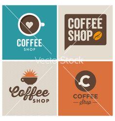Logo coffee shop vector - by thecorner on VectorStock®