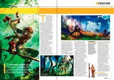 Layout game Magazine Gaming Magazines, Video Game Magazines, Magazine Spreads, My Magazine, Magazine Layout Design, Magazine Layouts, Magazine Examples, Gallery Magazine, Magazin Design