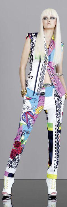 Versace 2013:  Kind of psychedelic, but I am totally vibing with it!