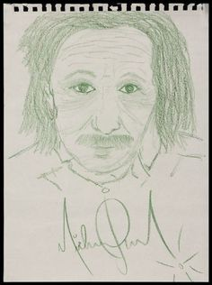 Albert Einstein drawn by Michael Jackson