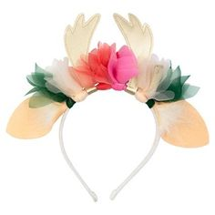 Shop Meri Meri Floral Deer Headband with free delivery from our Christmas range. This headband is perfect for dress up and everyday life this Christmas Kids Dress Up, Play Dress, Antler Headband, Santa And Reindeer, Floral Headbands, Bow Hair Clips, Stocking Fillers, Fairy Dolls, Kind Mode