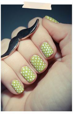 polka dotted nails