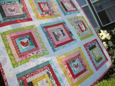 Scrappy Hedgerow Quilt tutorial ~ ohfransson.com ~ be sure to check out back of quilt