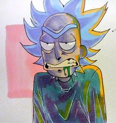 I was here once before but I'm a dingus and deleted on accident. Ricky Y Morty, Rick And Morty Time, Funny Sketches, Drawing Wallpaper, Bojack Horseman, Adult Cartoons, Disney Marvel, Cartoon Art, Art Inspo