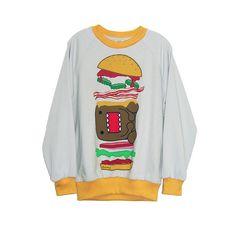 Domo Burger Pop Art Unisex Sweatshirt ❤ liked on Polyvore