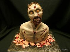 Some of the coolest zombie cakes and confections you've ever seen! Halloween Cakes, Halloween Themes, Horror Cake, Artisan Cake Company, Zombie Food, Love Cake, Themed Cakes, Zombie Cakes, Cake Decorating