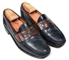 ALLEN EDMONDS Black Brown Woven Mesh Men Dress Loafer Shoes - 8.5 B #AllenEdmonds #LoafersSlipOns