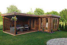 Flachdach Gartenhaus Modell ISO Customer picture: Flat roof garden house model I Backyard Studio, Backyard Bar, Backyard Sheds, Garden Studio, Backyard Retreat, Backyard Landscaping, Patio Design, Garden Design, House Design