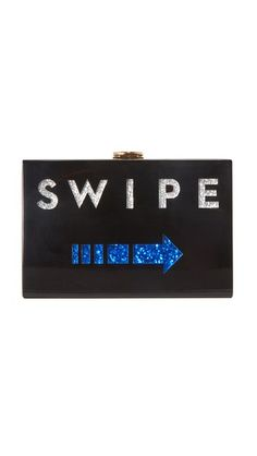MILLY Swipe Box Clutch. #milly #bags #shoulder bags #clutch #glitter #hand bags #