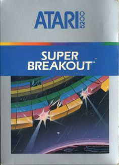 Box art for the 5200 version of Super Breakout, a home video game by Atari 1982