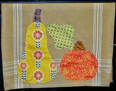 Fruit & Veg applique tea towels