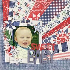Sweet Baby - Scrapbook.com Fourth of July page!