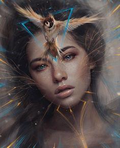 Spider Fawn Library c___l___o Digital Art Girl, Digital Portrait, Portrait Art, Dark Fantasy Art, Fantasy Girl, Dark Art, Art Sketches, Art Drawings, Drawing Art