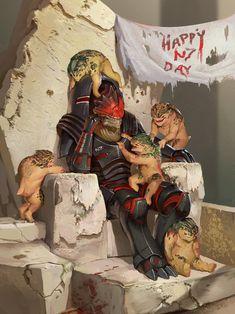Mass Effect Fan Art // N7 Day on Tuchunka by Andrew Ryan #UrdnotWrex #Krogan
