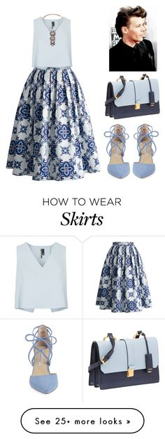 """Без названия #1488"" by anastasiiastyles on Polyvore featuring Chicwish, Topshop, Miu Miu and Kristin Cavallari"
