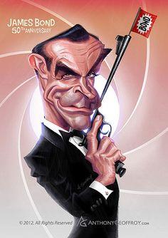 Caricature di Anthony Geoffroy ispirate a cinema e serie TV