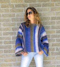 Loose knit sweater   knit women sweater - off shoulder sweater - oversized sweater - hand knitted wool sweater - merino wool sweater