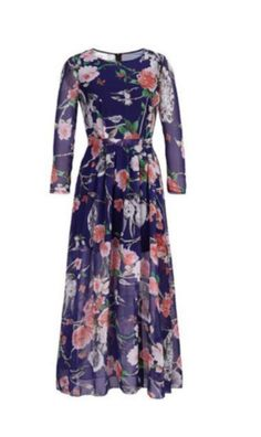 chiffon floral spring dress, dress, fashion, style, women's clothing