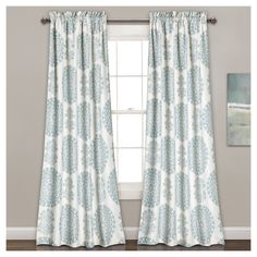 Shop for Lush Decor Evelyn Medallion Room-darkening Window Curtain Panel Pair. Get free delivery On EVERYTHING* Overstock - Your Online Home Decor Outlet Store! Blue Rooms, Floral Room, Decor, Curtains, Panel Curtains, Drapes Curtains, Rod Pocket Curtains, Lush Decor, Rod Pocket Curtain Panels