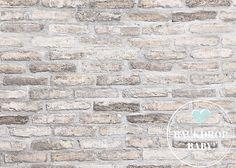 Rusty White Brick Backdrop Photography by BackdropBabyCanada