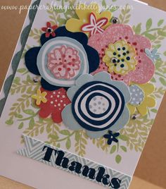 CTMH: Kelly Janes CTMH Independent Consultant Nov2014 sotm It's the Little Things Close To My Heart CTMH Thank you card