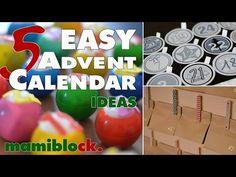 5 Adventskalender Ideen | Easy - Low budget - DIY | advent calendar | mamiblock - Der Mami Blog - YouTube