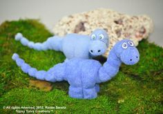 Baby Washcloth Animal Dinosaur WashAgami ™ Instructional