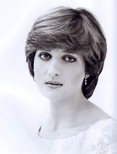 House of Windsor in Black & White (10) Diana,Princess of Wales