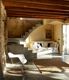 Girona, Spain adobe home // love the blend of building materials