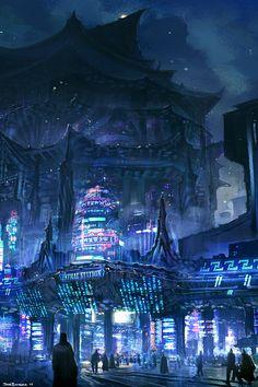 Valhallan Nebula — Artwork by Jose Borges