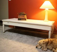 Shabby Chic French Provincial style coffee table.