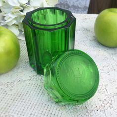 Emerald Art Glass vintage fenton emerald green art glass hobnail ashtray dish