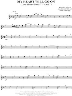 "Celine Dion ""My Heart Will Go On"" Sheet Music (Flute Solo) - Download & Print"
