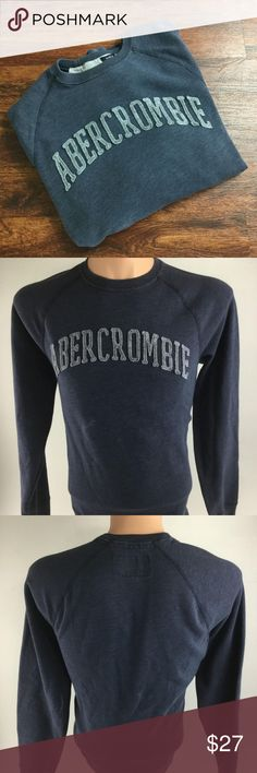 Abercrombie & Fitch Men's Crewneck Blue Pullover This is a nice and comfortable ABERCROMBIE & FITCH Muscle Fit Pullover Blue Crewneck Sweatshirt Men's Size Large        BRAND:  ABERCROMBIE & FITCH STYLE:  Muscle Fit Pullover Blue Crewneck Sweatshirt Color:  Blue Size:  Large Measurements:   Please see photos. Materials:  60% Cotton  40% Polyester  Condition: Excellent gently used preowned condition with minimal signs of wear and tear as seen in images. Small Spot on front as seen in photo…