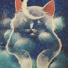 """ PETITE LUNE "" Original painting by Raphaël Vavasseur Art portal: www.raphaelvavasseur.com Original painting is available in Ebay, fine art print in Etsy #Cat #Painting #Art #RaphaëlVavasseur #Original #New #Animal #Drawing #Illustration #Catart #Pet #Artwork #Artist #Katze #Gato #Gatto #Kot #猫 #قط #kedi #Picture #Peinture #고양이 #ArtistePeintre #Canvas #AcrylicPainting #Chat #FelineArt #Kat #GraphicDesign"