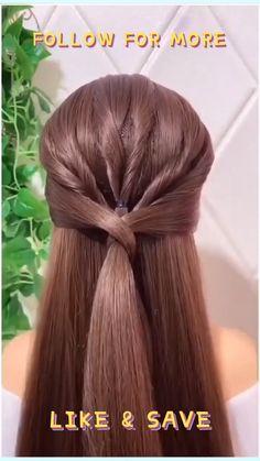 Easy Updos For Medium Hair, Medium Hair Styles, Long Hair Styles, Easy Hairstyles, Straight Hairstyles, Professional Updo, Formal Hairdos, Triangle Hair, Metal Hair Clips