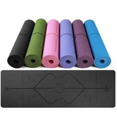 NEW Thickness TPE Body Line Yoga Mat Non-skid Tasteless Exercise Pad Lose Weight Mat Sports Accessories Gymnastics Mats, Tough Day, Mat Exercises, Pilates Workout, Best Yoga, Workout For Beginners, How To Do Yoga, No Equipment Workout, Accessories Shop