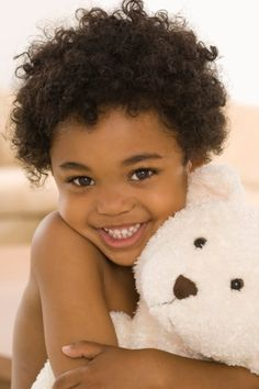 a girl with her teddy bear. joy -such a beautiful smile. So Cute Baby, Cute Kids, Cute Babies, Precious Children, Beautiful Children, Beautiful Babies, Beautiful Smile, Beautiful People, Natural Hair Care