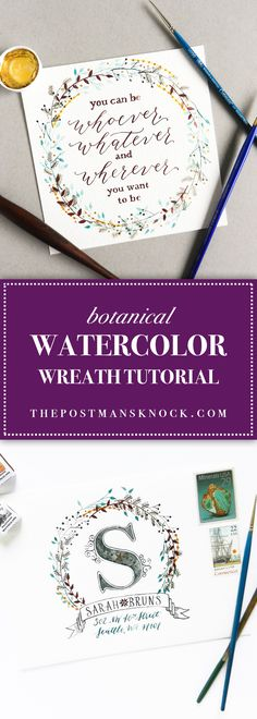 You can use watercolor wreaths for a variety of projects from wedding invitations to snail mail to business identity materials! Learn how to make them here.