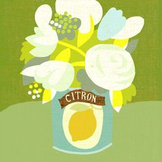 citron, vintage lemon can used as flower vase. http://www.workbook.com/view/illustration/marco_marella