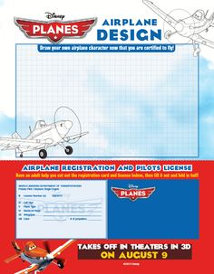 Disney #Planes Printable Activity Sheets - In Theaters August 9th