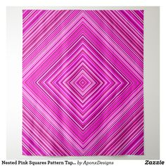 Nested Pink Squares Pattern Tapestry - home gifts ideas decor special unique custom individual customized individualized Tapestry Pink, Tapestry Bedroom, Wall Tapestry, Girly Gifts, Pink Gifts, Diy Funny, Home Gifts, Special Gifts, Personalized Gifts