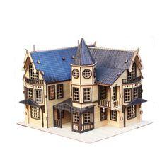 Na Design Tree Model Kit for Kids Adult - Fantasy Mansion Black