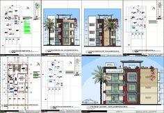 Planos de Departamentos 3 niveles en DWG AUTOCAD, Vivienda multifamiliar - condominios - Proyectos