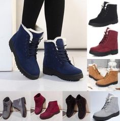 Womens Winter Warm Suede Ankle Snow Boots Fur Thicken Ski Flats Casual Shoes - Casual Winter Boots - Ideas of Casual Winter Boots - Womens Winter Warm Suede Ankle Snow Boots Fur Thicken Ski Flats Casual Shoes Price : Casual Winter Boots, Stylish Winter Outfits, Winter Fashion Outfits, Winter Shoes, Fashion Boots, Casual Shoes, Fashion Clothes, Warm Boots, Winter Snow Boots