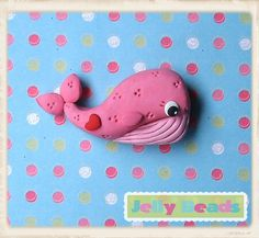 pink whale bead/charm/bow center