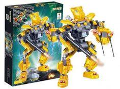 Beast Fighter Robô Fighter Amarelo 215 Peças - BanBao